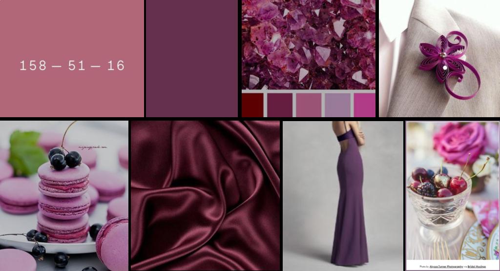 cassis wedding color theme