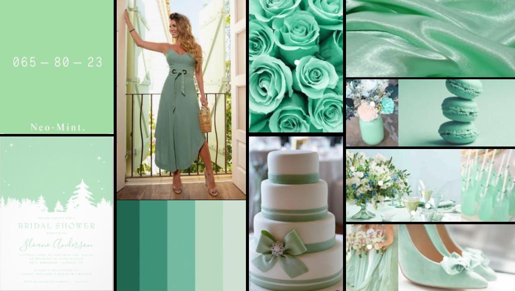 neo-mint wedding color theme